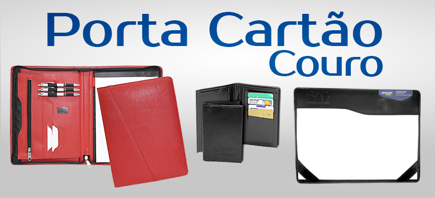 Porta Cartões e Docs de Couro
