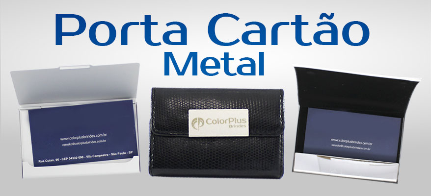 Porta Cartões de Metal