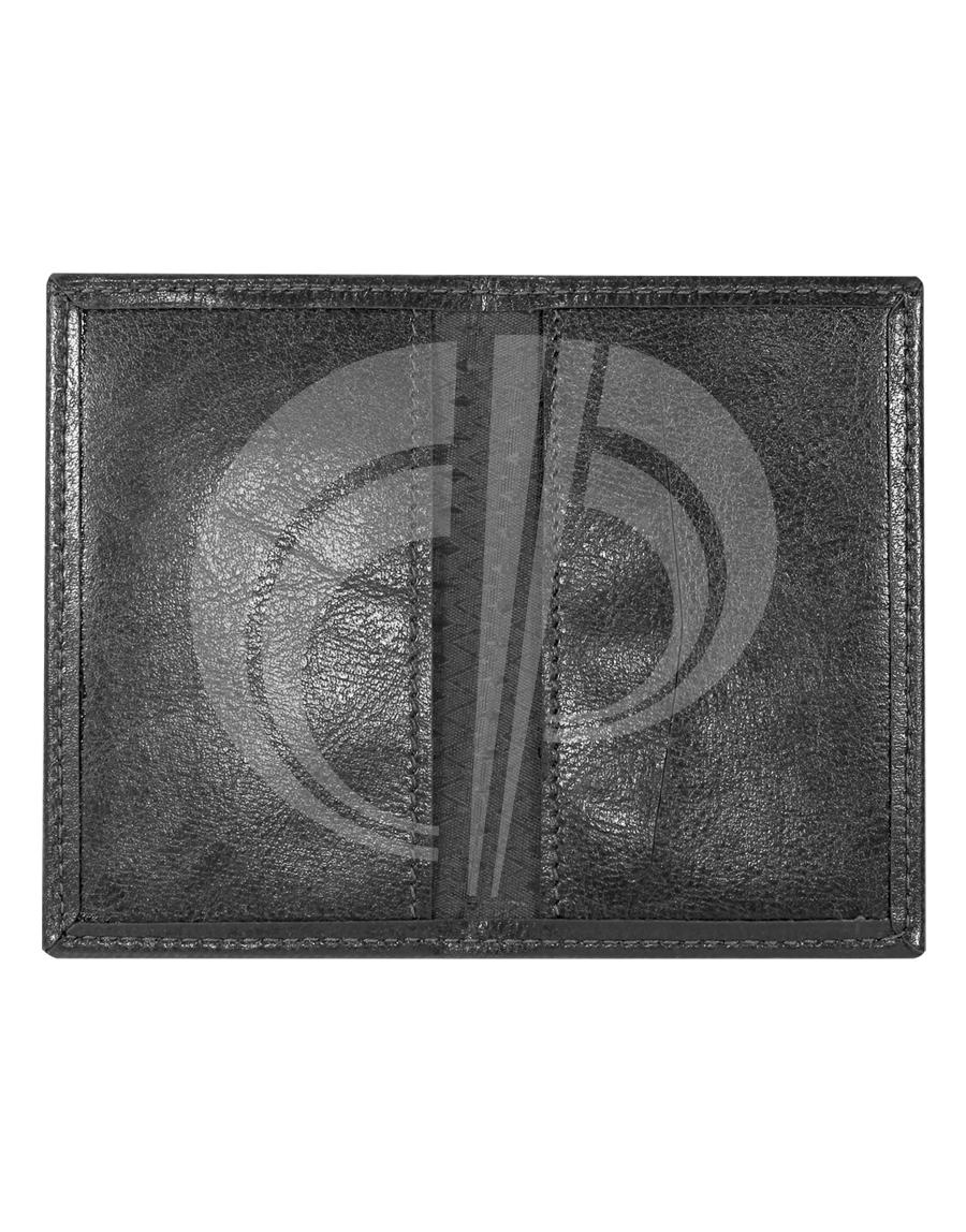 Porta cartão com três divisões internas