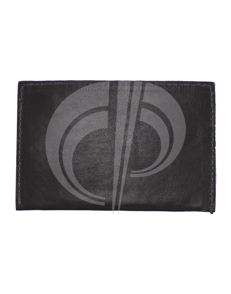 Porta cartão com duas divisões externas
