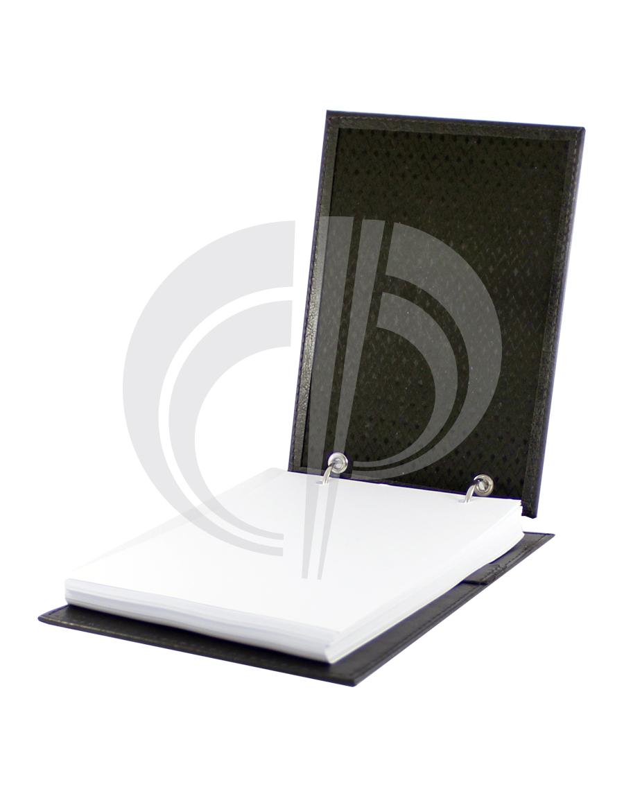 Porta bloco com bloco e suporte para caneta