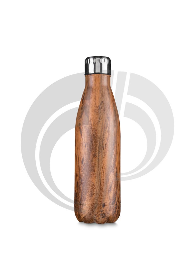 Garrafa aço inoxidavel 750 ml madeirado