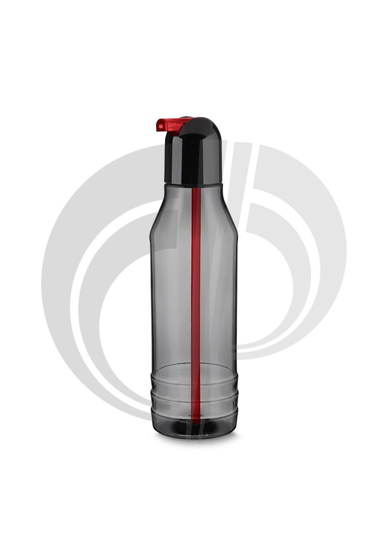 Garrafa plástica 600 ml com canudo