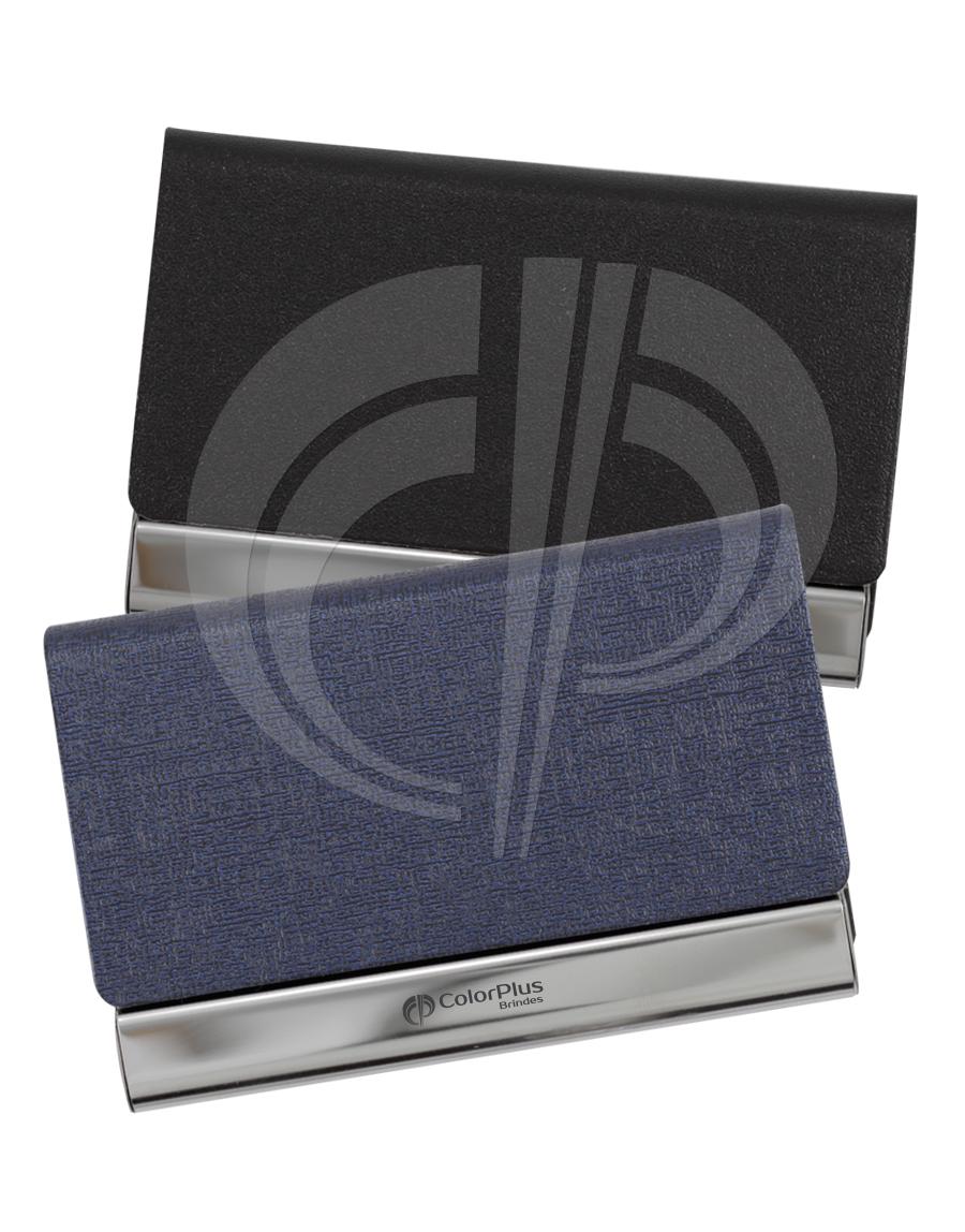 Porta cartão em couro sintético