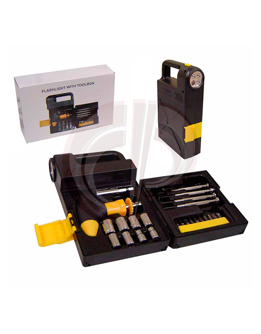 Kit ferramenta com lanterna