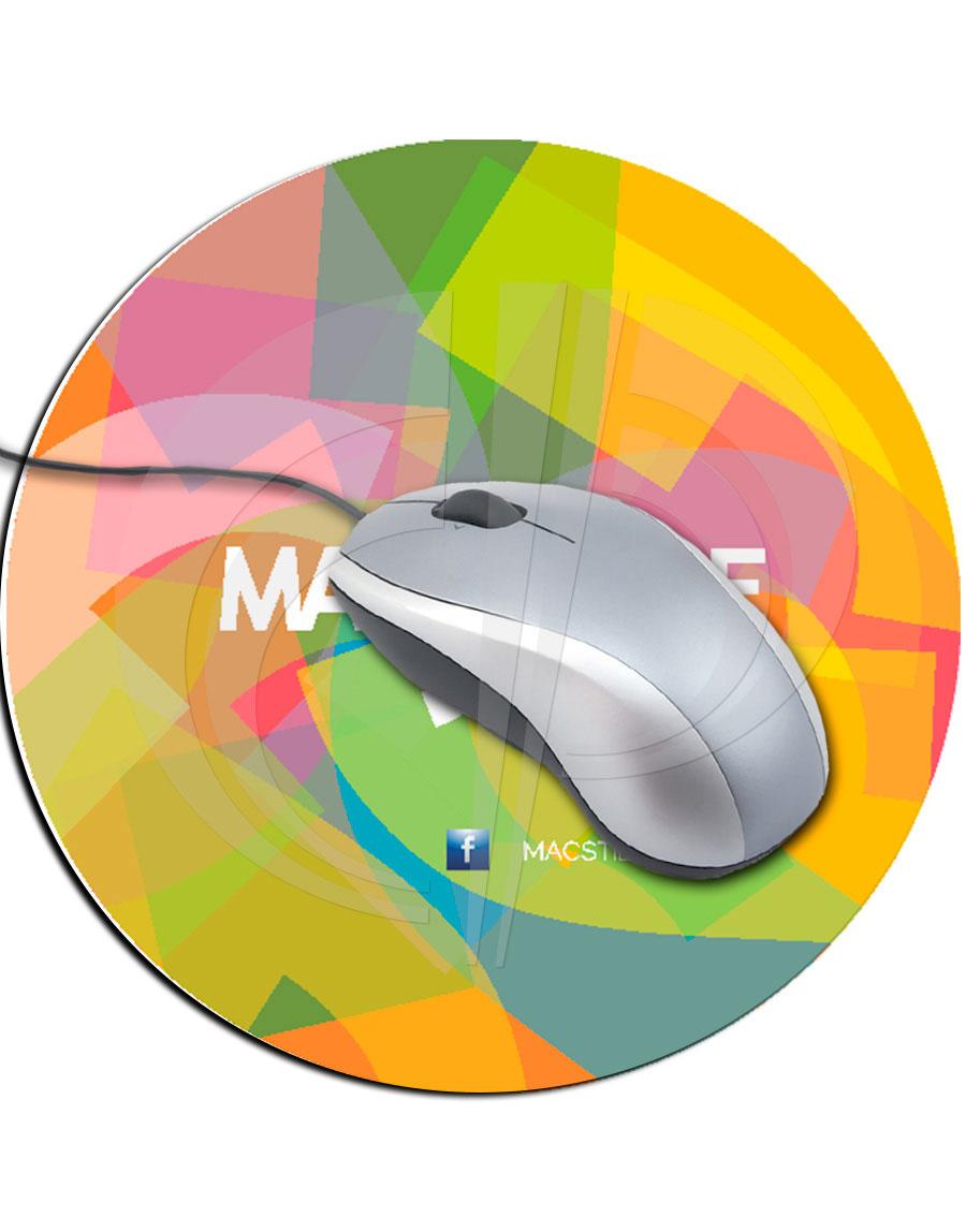 Mouse Pad Redondo em Off-set