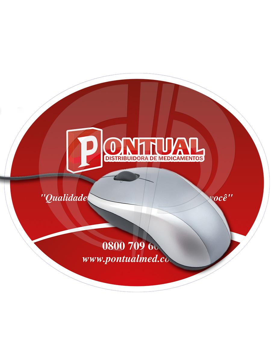 Mouse Pad Oval em Off-set