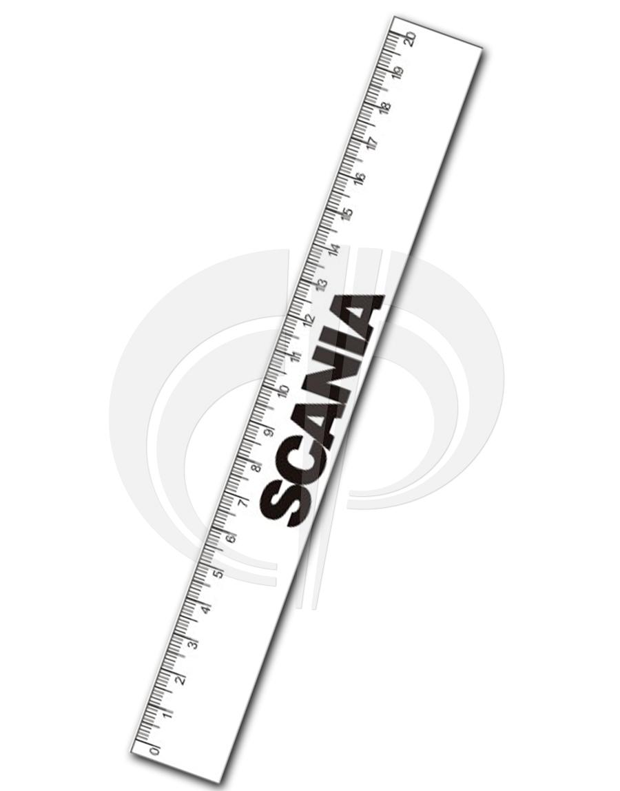 Régua flexivel de poliestireno 2,5x20cmx0,45mm