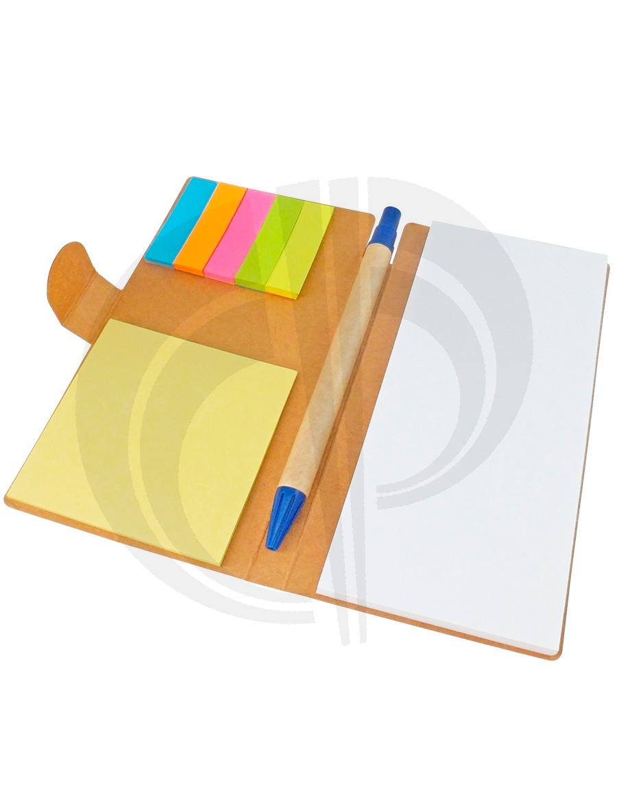 Bloco de anotações ecológico com post-its