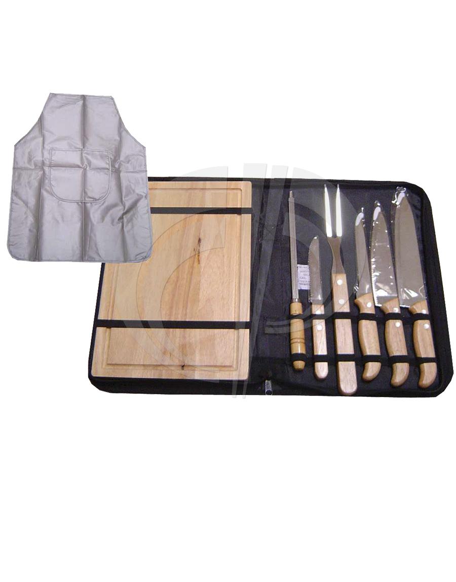 Kit churrasco com 8 peças