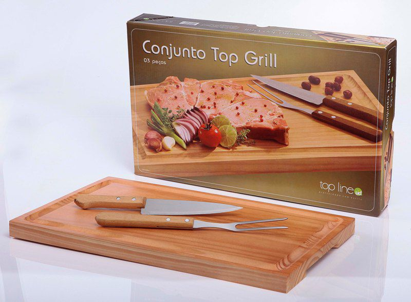 Kit Churrasco 3pçs Top Grill