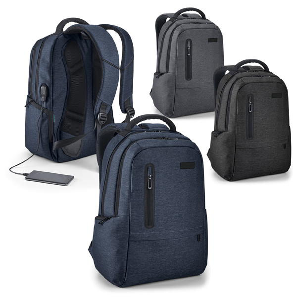 Mochila Executiva para notebook 17.0 com cabo USB.